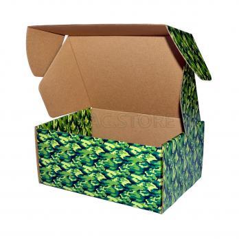 """Подарочная коробка  """"камуфляж""""  22*16*10 см"""